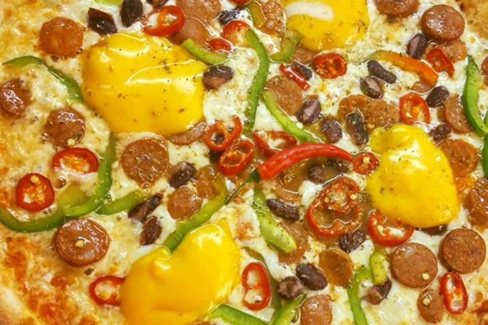 Delicious Pizza near Lake Bohinj