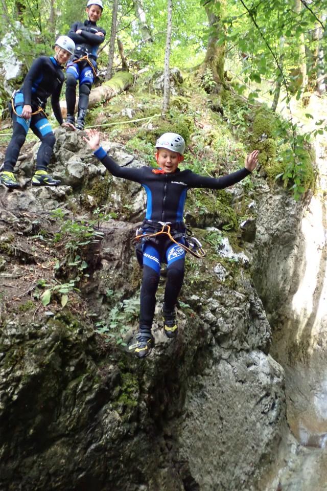 canyoning jump bohinj slovenia
