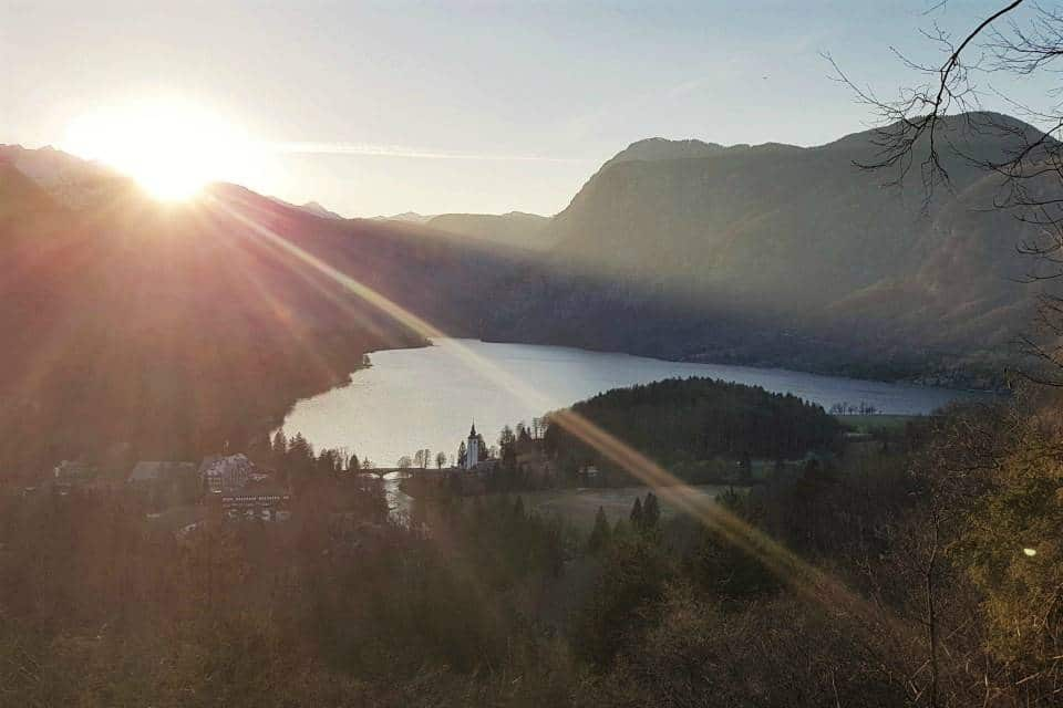 pec sunset lake bohinj