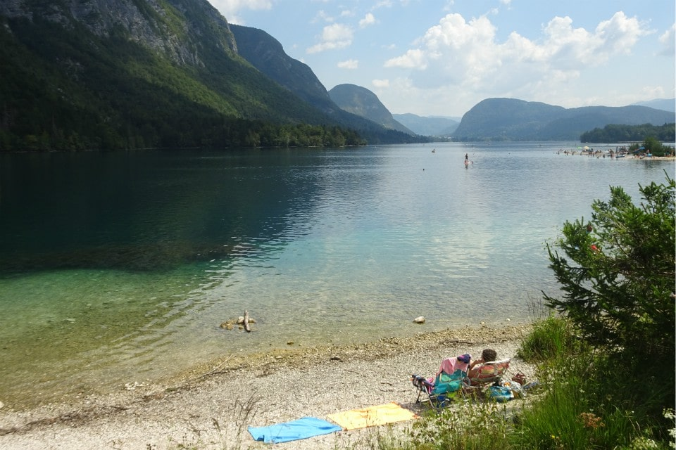beach lake bohinj