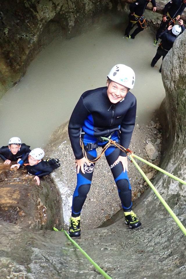 canyoning abseil bohinj slovenia