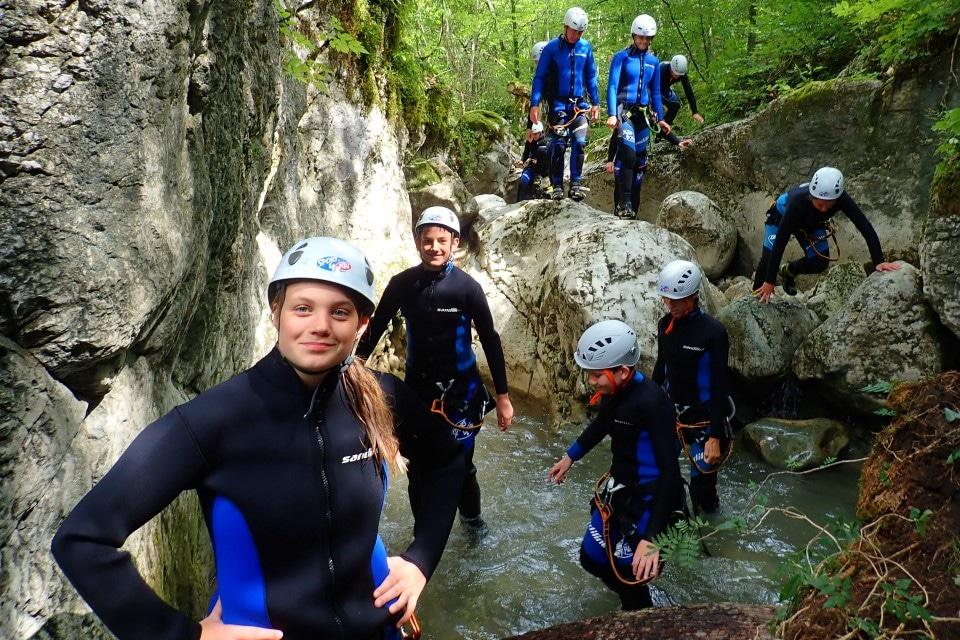 family canyoning bohinj slovenia