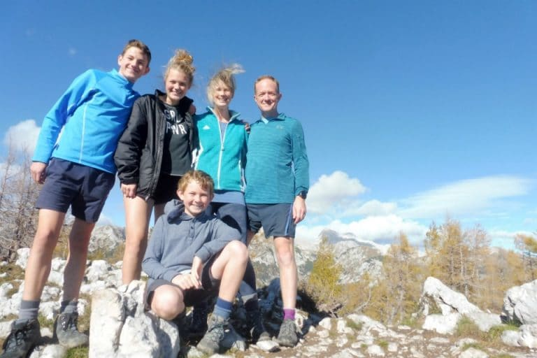 family hike julian alps