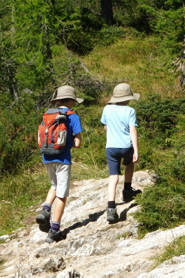 family walk hike slovenia
