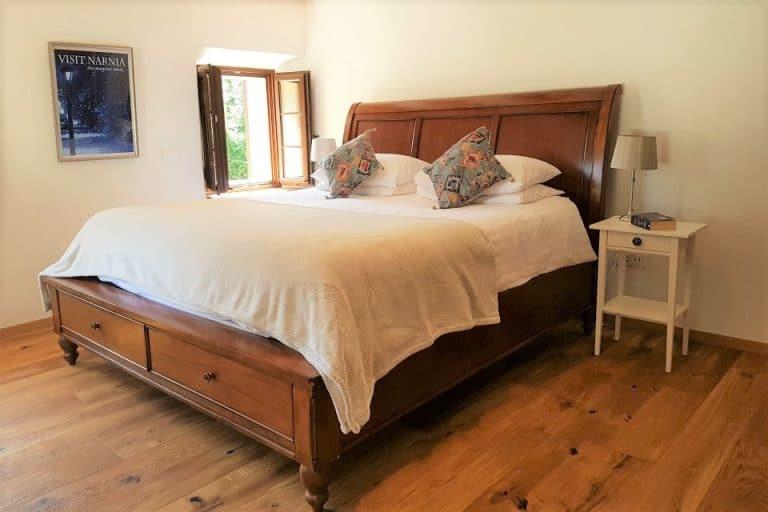 Super-king size bed, Escape to Bohinj holiday home Slovenia