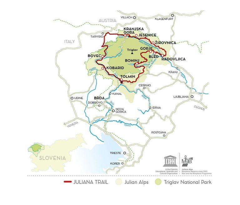 juliana trail map