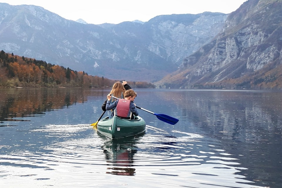 kayak lake bohinj