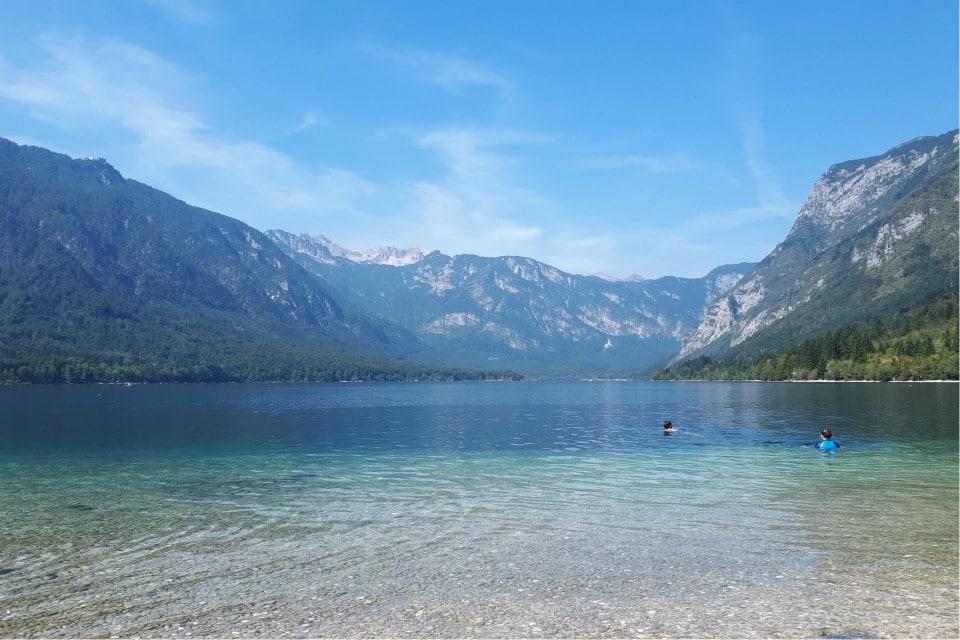 lake bohinj swimming beach