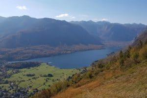 studor viewpoint lake bohinj autumn