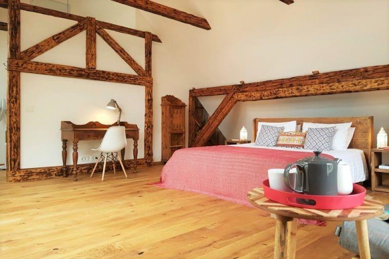 Spacious master bedroom at Escape to Bohinj holiday home Slovenia