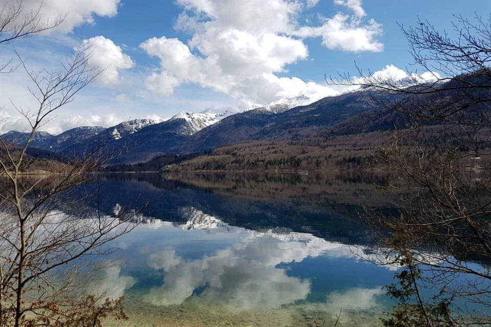 walk lake bohinj slovenia