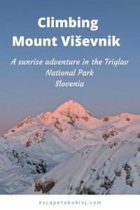 Climbing Mount Visevnik