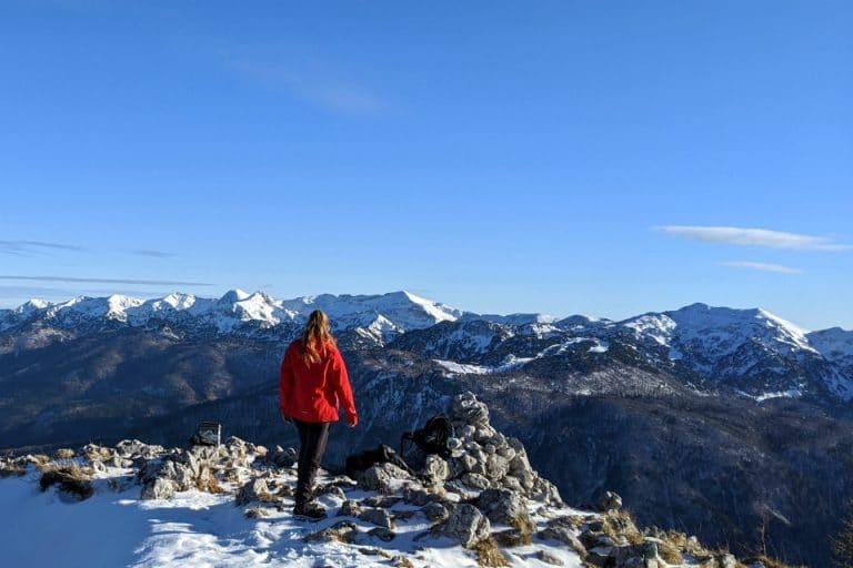 Hiking up Pršivec, Julian Alps, Slovenia
