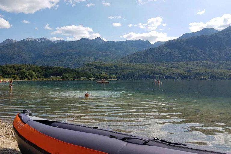kayaking activity lake bohinj