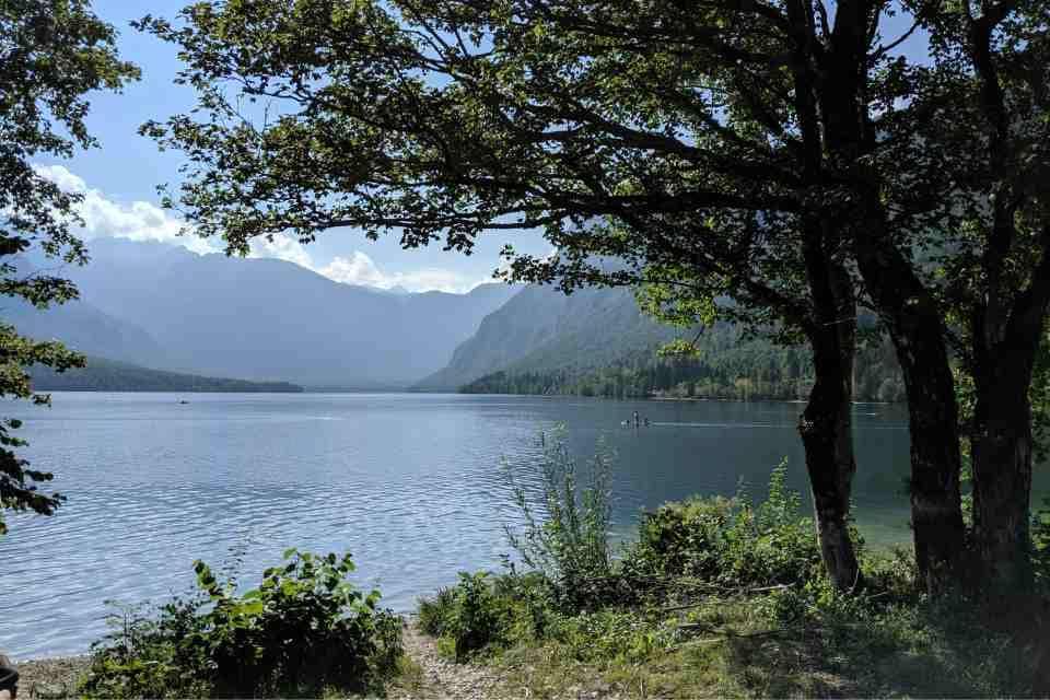 A popular activity at Lake Bohinj is to walk around the lake