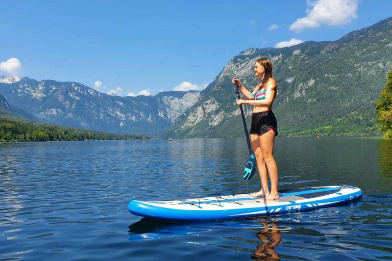 Hire a kayak/canoe/SUP at Lake Bohinj