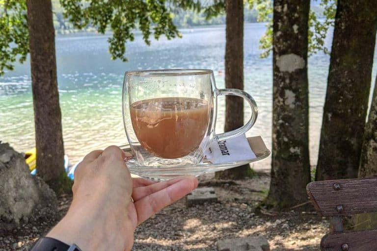 Stop for some refreshments as you walk around Lake Bohinj in Slovenia