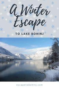 pinterest - A winter escape to Lake Bohinj