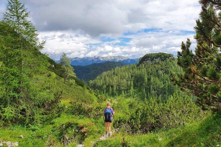 Hiking near Lake Bohinj