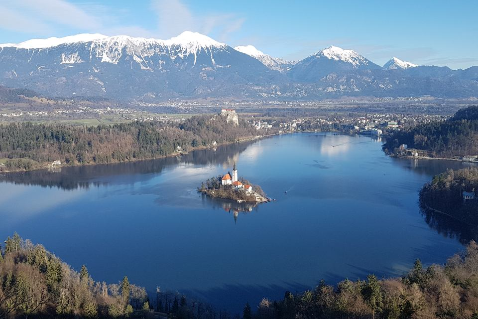Lake Bled, Slovenia in winter