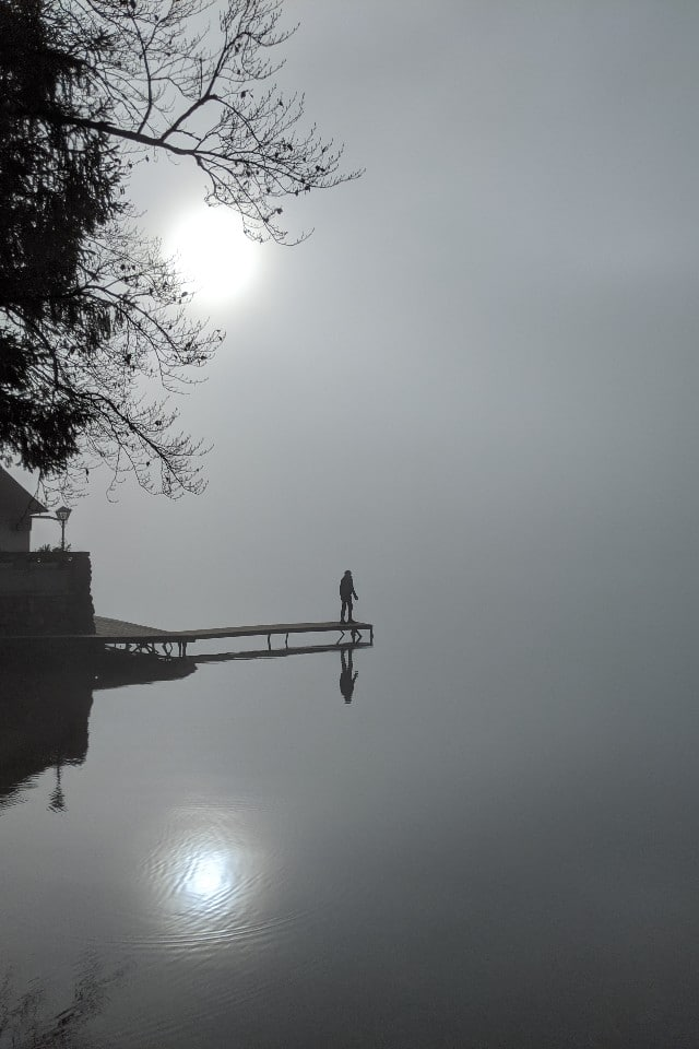 Mist at Lake Bohinj Slovenia
