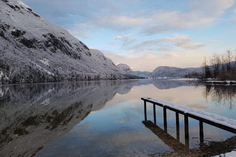 Winter at Lake Bohinj