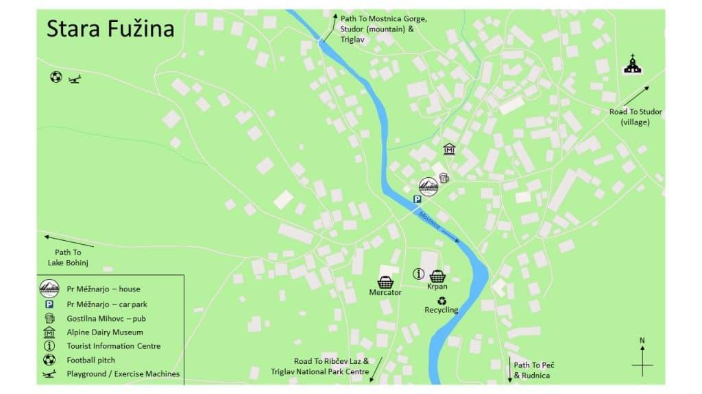 Stara Fuzina map
