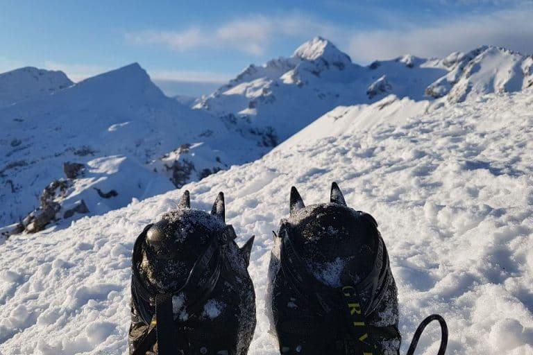 Winter hiking in the Julian Alps, Slovenia