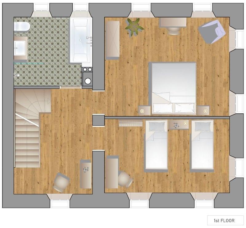 Escape to Bohinj holiday rental floor plans