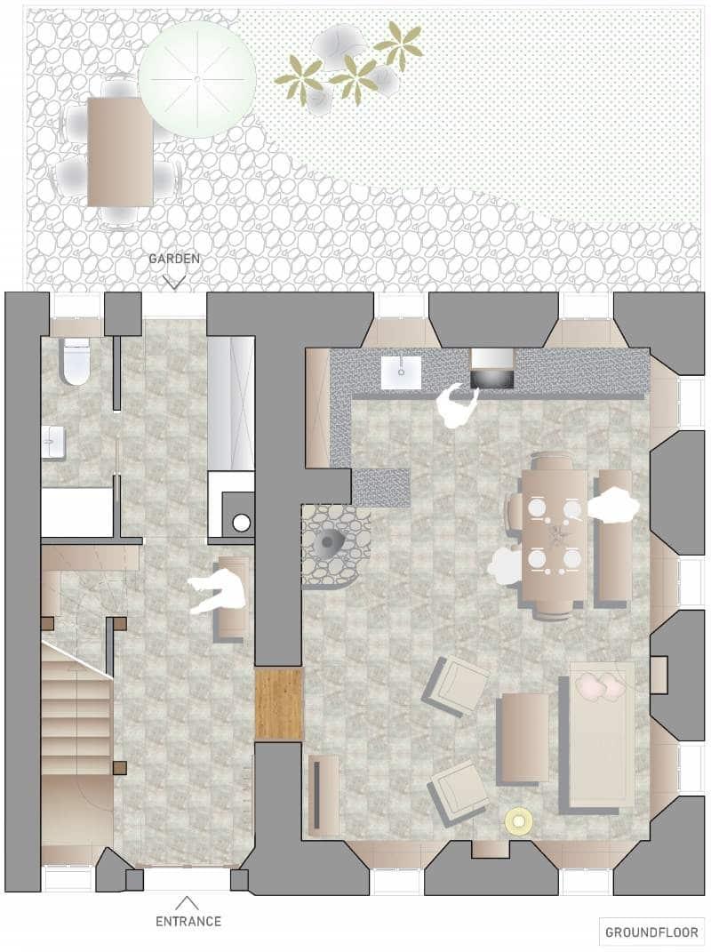 Escape to Bohinj holiday house floor plans