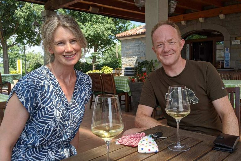 Danny & Liz, owners of Escape to Bohinj Holiday House