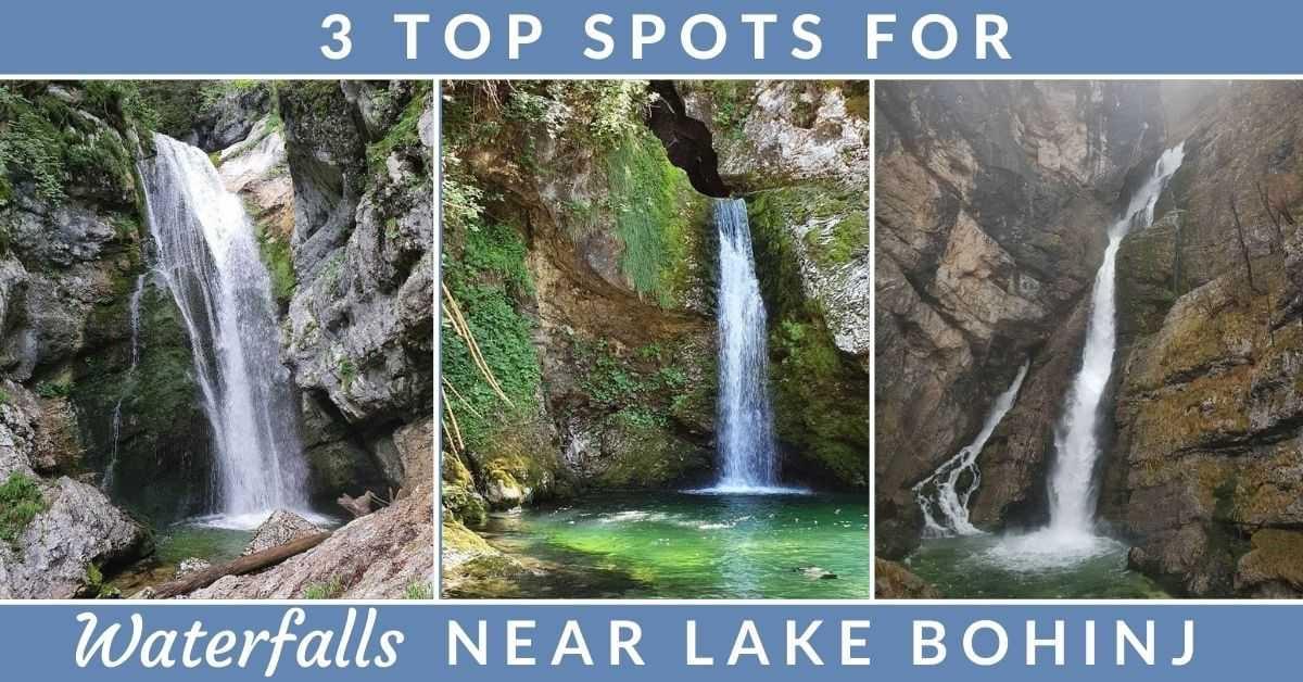 Waterfalls near Lake Bohinj Slovenia