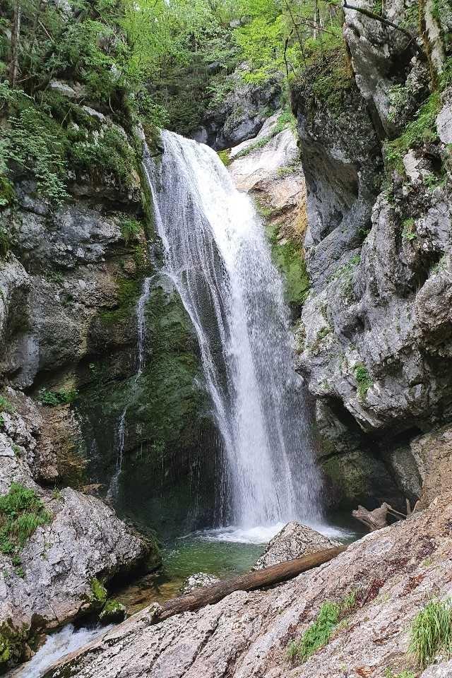 Mostnica Waterfall near Lake Bohinj