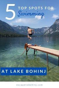 pinterest-swimming lake bohinj slovenia