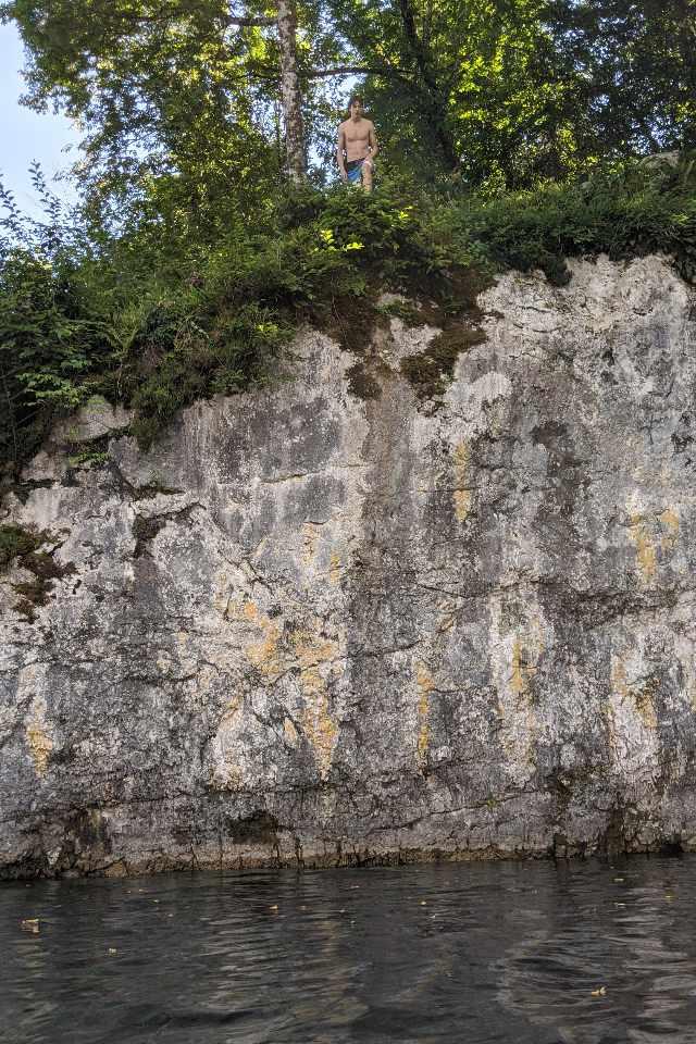 rocks lake bohinj slovenia