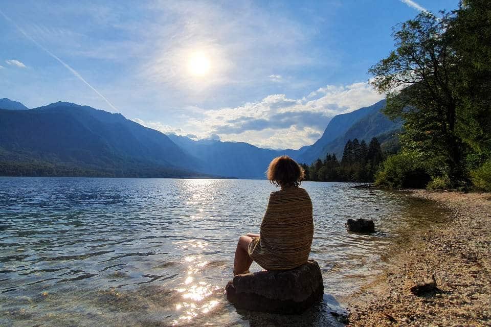 romantic swimming places lake bohinj slovenia