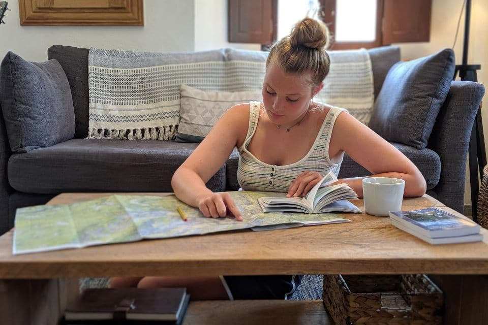 Planning hiking routes at Escape to Bohinj Holiday House