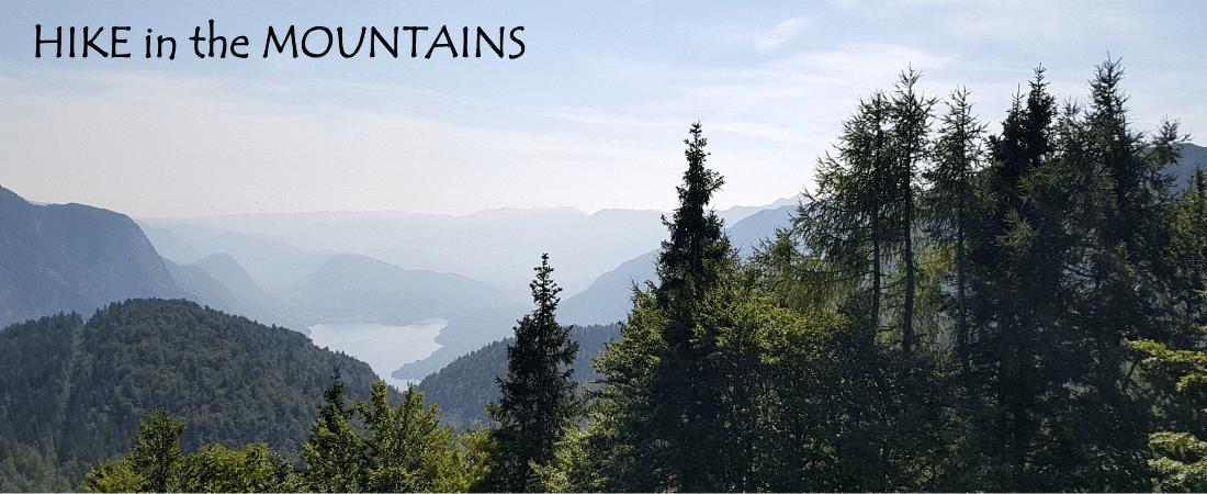 Hiking near Lake Bohinj in Slovenia